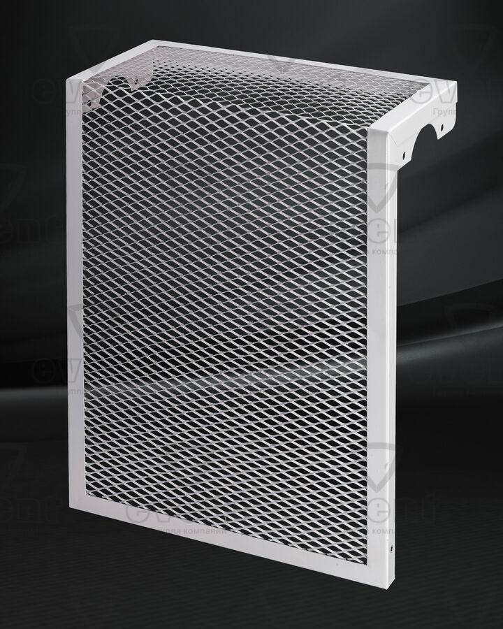 Экран для радиатора с просечно-вытяжной сеткой