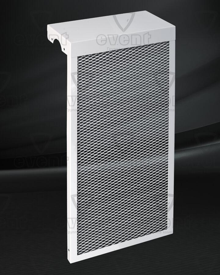Экран для радиатора с просечно-вытяжной сеткой и глухим верхом