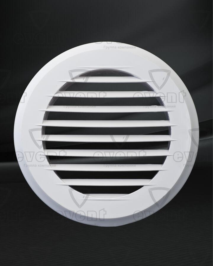 Решетка пластиковая круглая с наклонными жалюзи