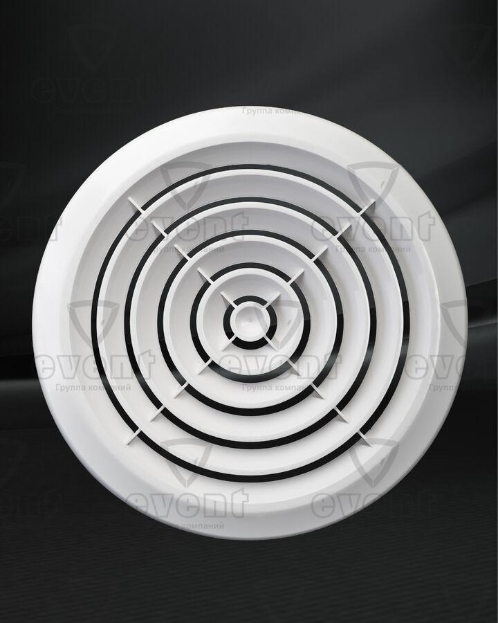 Решетка пластиковая круглая с концентрическими жалюзи