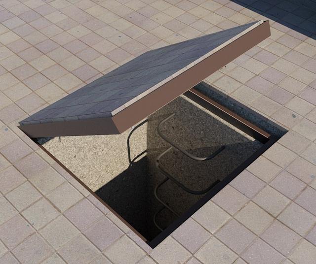 Люк тротуарный под брусчатку